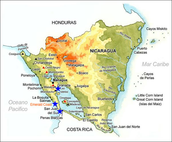 The Best of Nicaragua Opportunity Travel – Nicaragua Travel Map